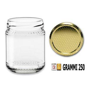 Vaso vetro Alveolo per miele da grammi 250