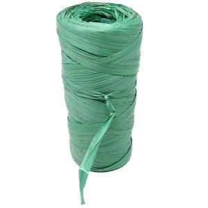 Rafia sintetica verde in bobine da 90 grammi