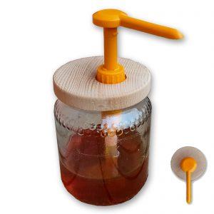 Dosatore per miele OrangeWood con tappo in legno di faggio