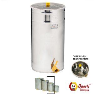 Maturatore acciaio inox Quarti da 100 kg. con coperchio trasparente