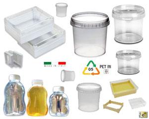 Vasi in plastica per miele