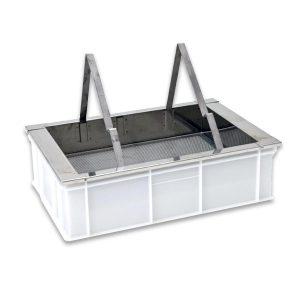 """Banco per disopercolare da tavolo con vasca in plastica alimentare """"BEEPRO"""""""
