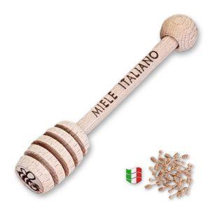 """Spargimiele in legno di faggio """"Miele Italiano"""" cm. 79"""