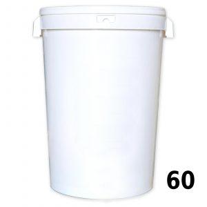Secchiello big in plastica alimentare per 60 kg. di miele