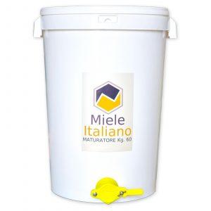 Secchiello Maturatore con rubinetto in plastica alimentare per 60 kg. di miele