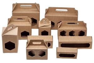 SCATOLE PER MIELE AVANA Scatole cannetè avana per vasi o vasetti di miele per confezioni da trasporto o regalo