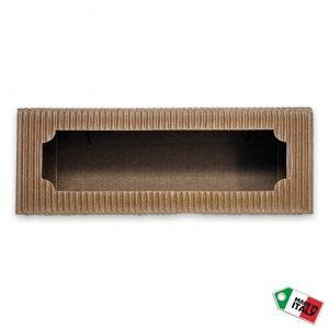 """Scatola avana miele """"Premium"""" con esagono per 3 vasi da 110 gr. - 20 pezzi"""