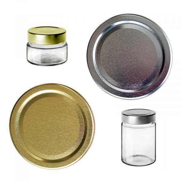 Capsula oro-argento per vasi Ergo   100 pezzi